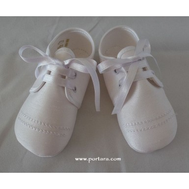 The Little Prince White or Ivory Silky Baptismal Shoes