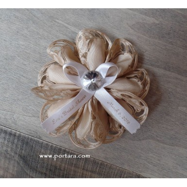 Satin Flower Shaped Bomboniera ~ Favor