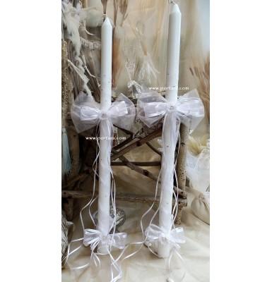 Amazing Sparkling Orthodox Wedding Candles  ~ Lambathes
