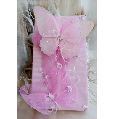 Dressed in Gingham with Butterflies Baptismal Box