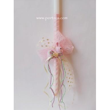 Cutte Bunny Pendant Inside Velour Keepsake Box Easter Candle ~ Lambatha