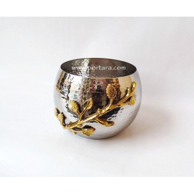 Golden Vine Stainless Steel Hammered Pot ~ Favor Idea