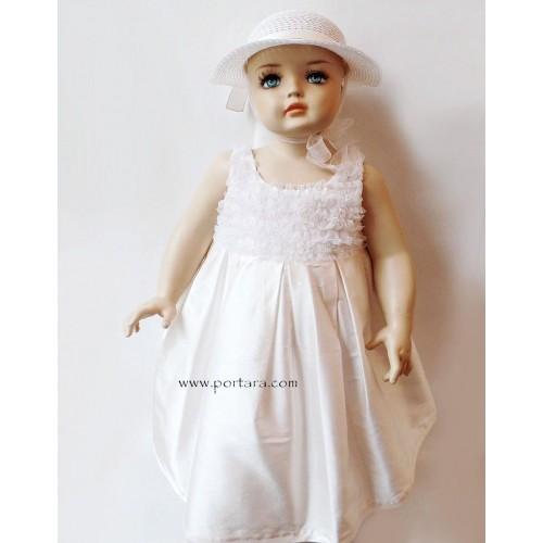 Manuela Silk and Ruffles Christening Dress