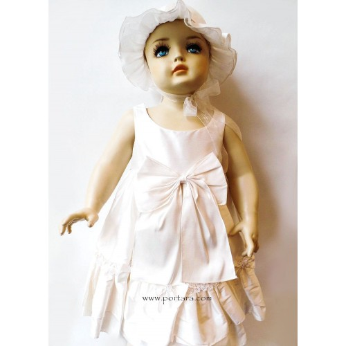 Paula Ruffles and Bows Christening Dress