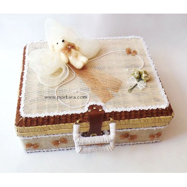 Cute Teddy Bear Christening Baptism Keepsake Box ~ Unisex