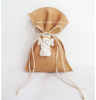 Natural Religious Christening Favors