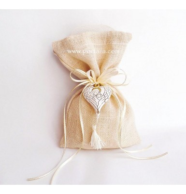 Lovely Christening Baptism Favor With a Heart Shaped Hanging Icon