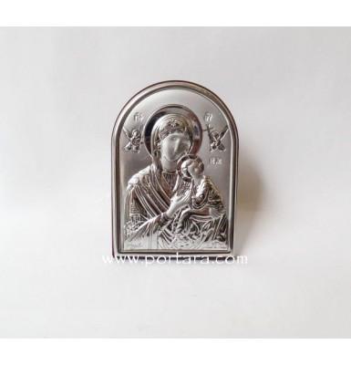 Silver Greek Orthodox Panagia Icon Favor Idea
