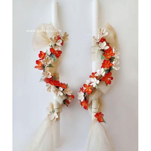 Astonishing Magnolia Flowers Wedding Candles ~ Lambathes