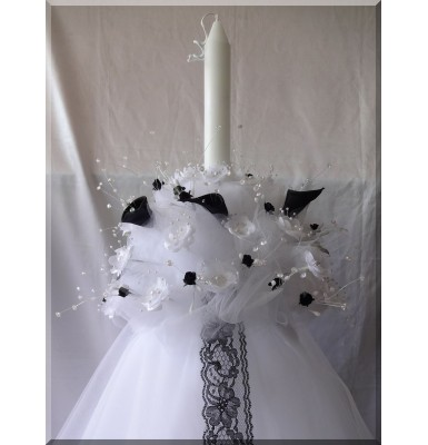 Astonishing Black Silk Calla Lilies Wedding Candles ~ Lambathes