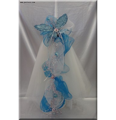 Amazing Butterfly Beauty Christening Baptism Candle