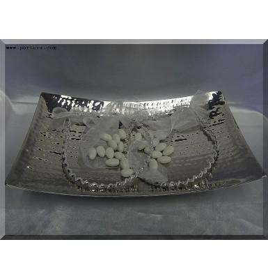 Retro Style Silver Wedding Tray