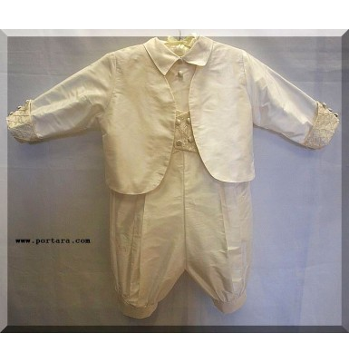 Dylan Silk Christening Baptism Outfit