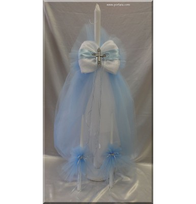 A Lovely Christening Baptism Candle ~ Unisex ~ Ideal also for Twins