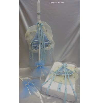 Light Blue Nautical Theme Baptism Set