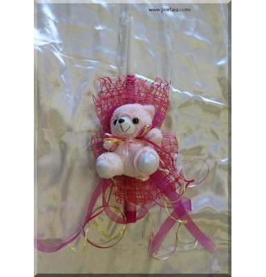 Cute Teddy Bear Easter Candle ~ Lambatha