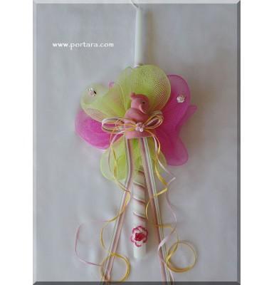 Dazzling Elephant Pendant Inside Velour Keepsake Box Easter Candle ~ Lambatha