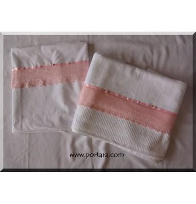 Charming Girls Soft Pink Decoration Baptism Set ~ Lathopana