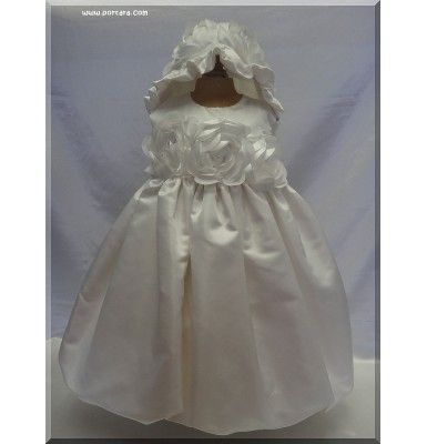 Amelia Baptism Christening Dress with Crystals