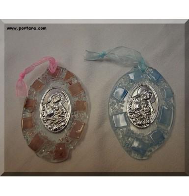 Murano Hanging Pebble Oval Shape Icon Gift Favor ~ Unisex