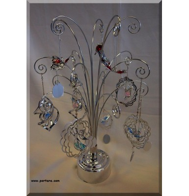 Chrome Plated Rotating Display Rack-Tree