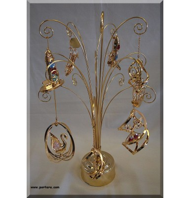 Gold Plated 24K Rotating Display Rack -Tree