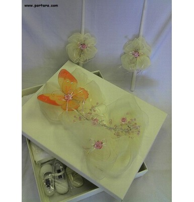 Adorable Butterfly Christening Baptism Keepsake Box