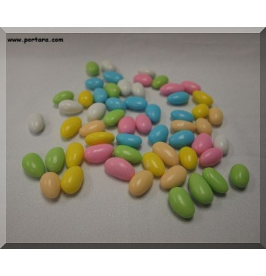 Multi Colored Fine Jordan Almonds Confetti ~ Koufeta