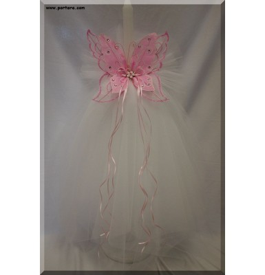 Butterfly Glow Orthodox Wedding Candles ~ Lambathes