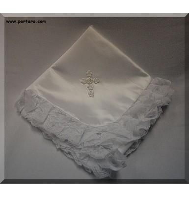 Girl's Christening Baptism Blanket
