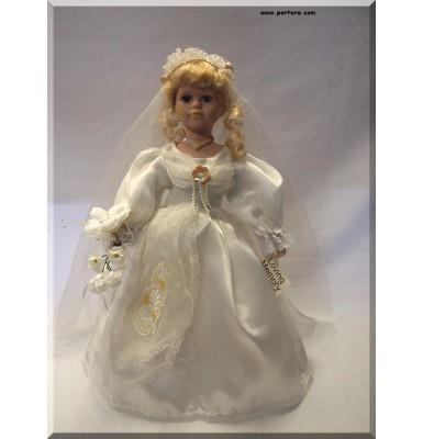 Loving Memory Bridal Porcelain Doll