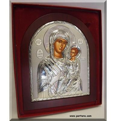 Amazing Orthodox Silver Icon ~ The Lady Healer Giatrisa