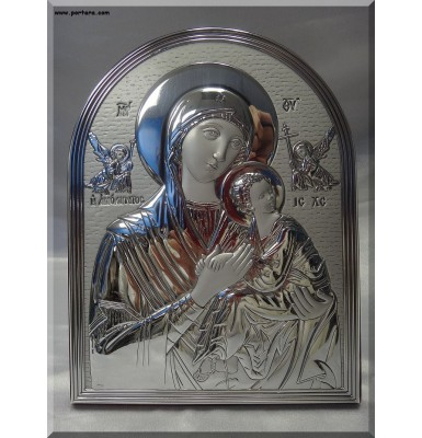 Amolyntos Theotokos ~ Madonna the Undefiled Silver Icon