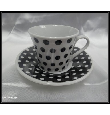 Elegant Porcelain Espresso Coffee Cups Favor Idea with Polka Dot Pattern