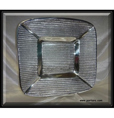 Square Bubble Tray with Hammered Design