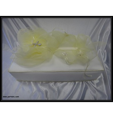 A Lovely Silky Satin Covered Baptism Box Decorated ~ Unisex