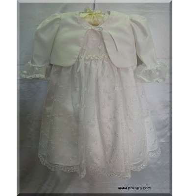 Ariella Princess Christening Baptism Gown or Dress with Jacket