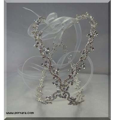 Eternity Silver Wedding Crowns with Crystals ~ Stephana