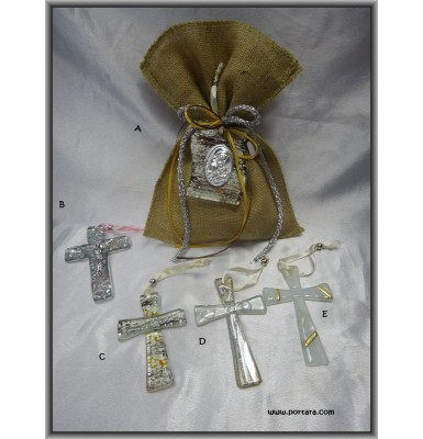 Adorable Icon or Cross in Gold and Brown Colors Gift Favor Idea