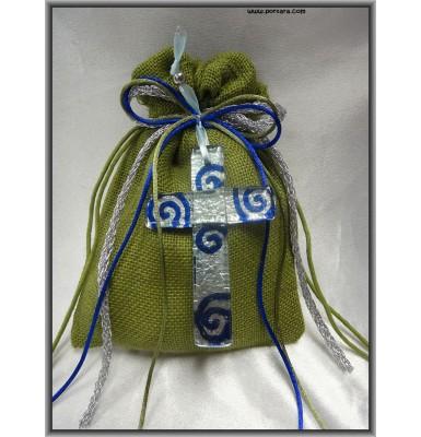Spectacular Hanging Murano Cross Favor Gift Idea