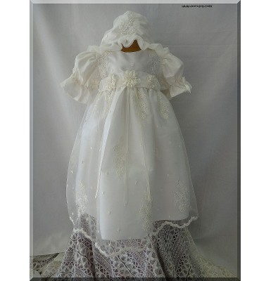 Abby Fabulous Christening Baptism Dress or Gown