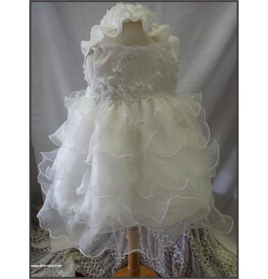 Aira Ecrou European Style Christening Baptism Dress