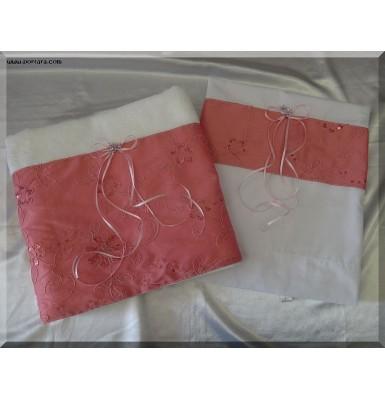 Pink Silk Tafetta Baptism Set ~ Lathopana