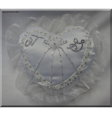 Girls Pillow Accented with Swarovski AB Crystals