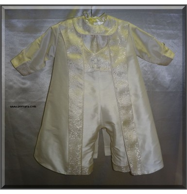 Lukas Luxurious Ivory Christening Baptism Outfit