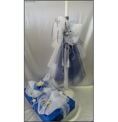 Navy Blue Beauty Boys Christening Baptism Discounted Set