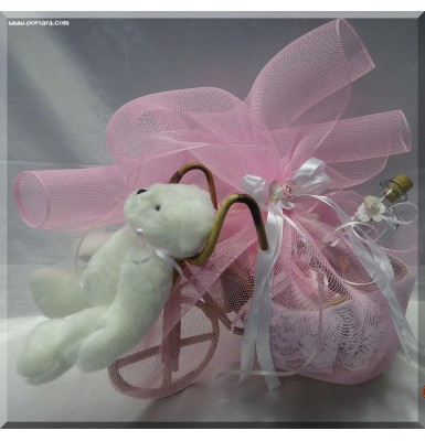Adorable Pink Baptismal Basket