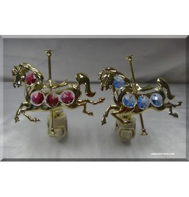Carousel Horse 24K Gold Plated Night Light Gift Favor