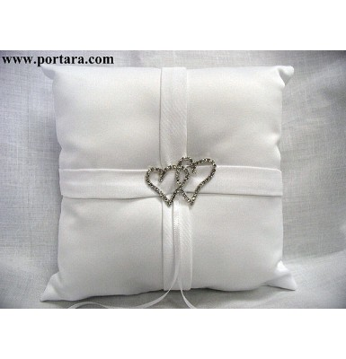 Intertwined Hearts Ring Pillow