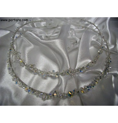 Exquisite Swarovski Crystals Clear AB Wedding Crowns ~ Stephana